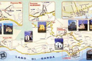 Cartina itinerario chiese di Torri del Benaco