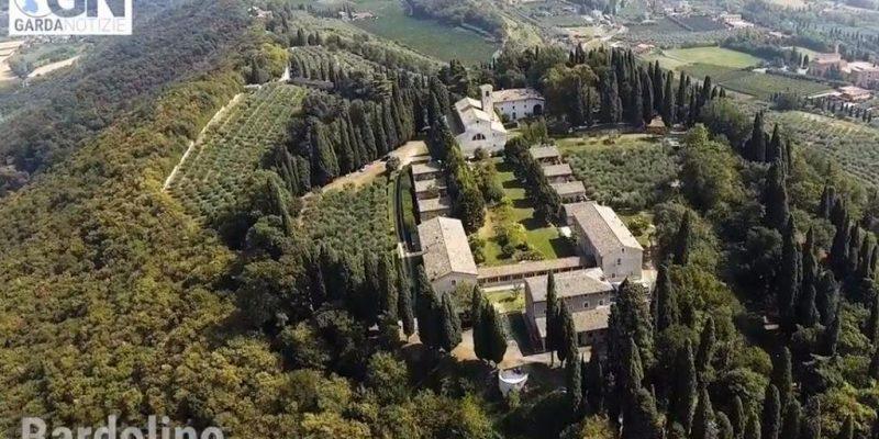 Vista dal Drone dell'Eremo di San Giorgio a Bardolino