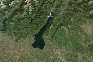 Vista del Lago di Garda dal satellite