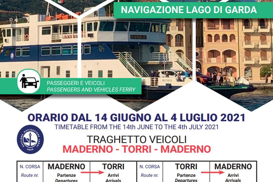 Cliccare per aprire pdf contenente orari del traghetto Maderno-TorridelBenaco-Maderno valido dal 14 giugno al 04 luglio 2021